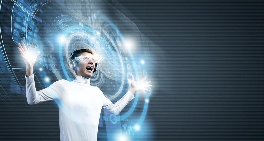 Augmented Reality AR - futuristic smart glasses