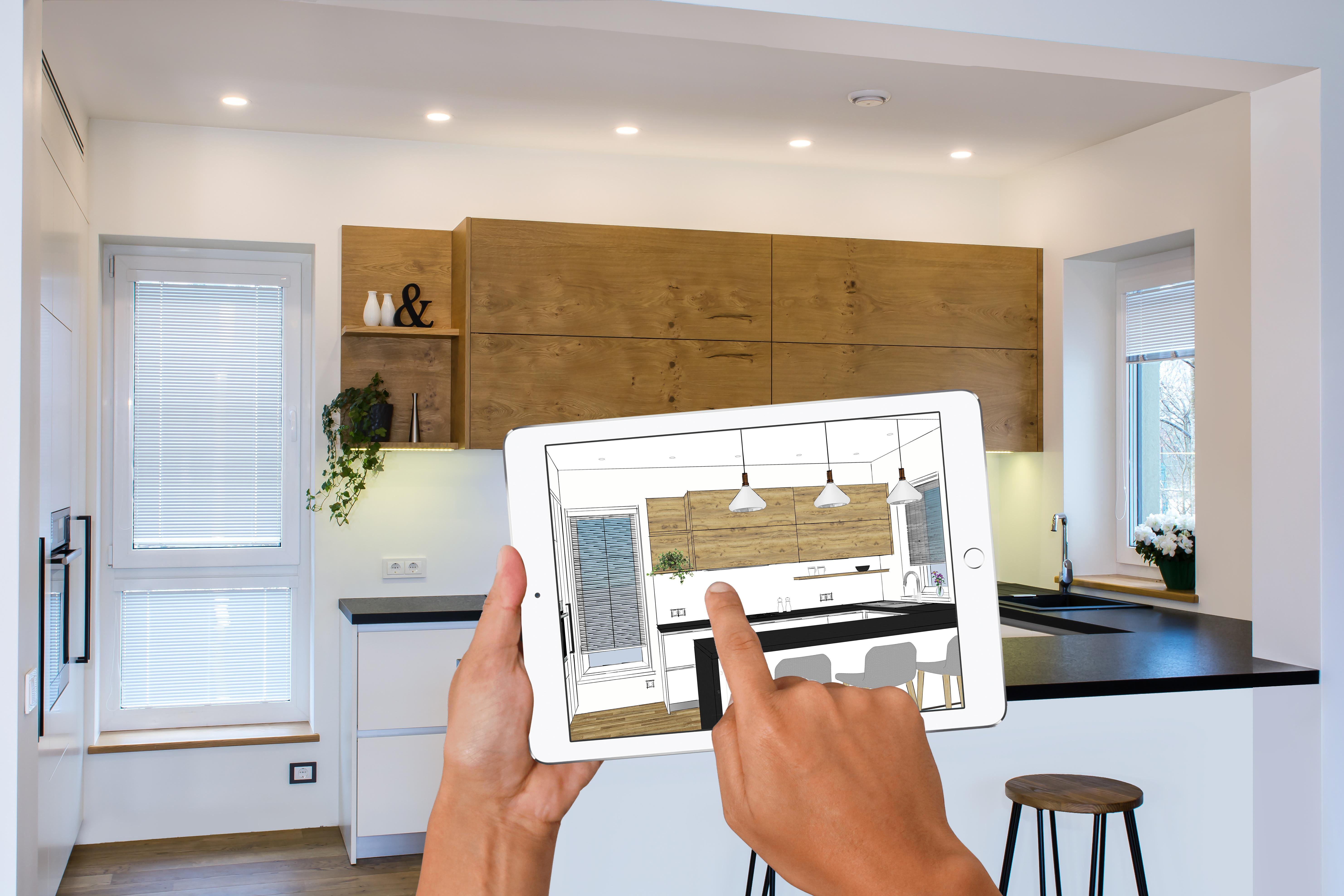 3D Konfiguration einer Küche